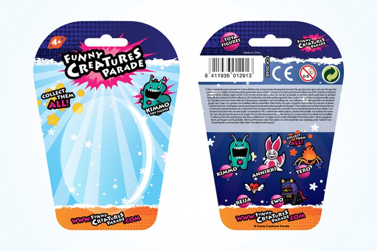 Packaging design for Funny Creatures Parade