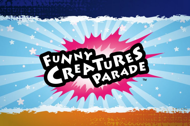 This a logo for Funny Creatures Parade designed by TheToonPlanet