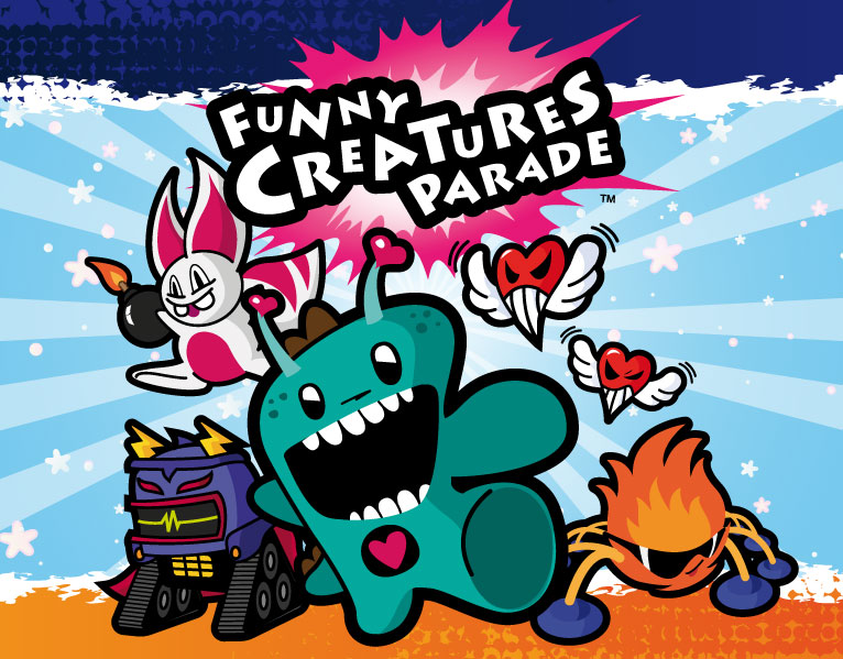 Funny Creatures Parade cover illustration
