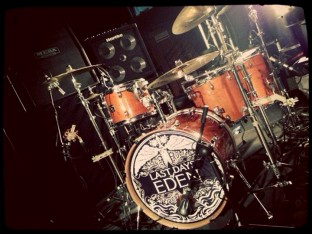 Last Days of Eden Drums with logo design
