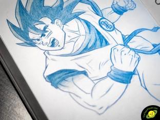 Goku pencil drawing
