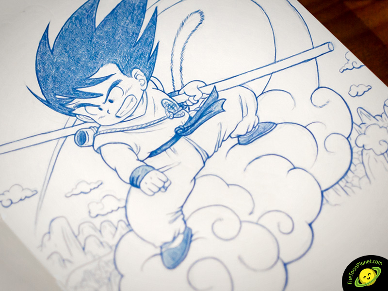 Goku pencil drawing