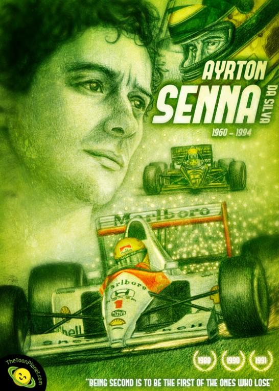 F1 portraits - Ayrton Senna Tribute