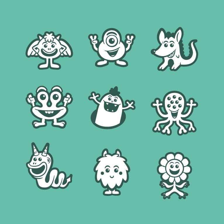 vector avatar design icon sets in cartoon style thetoonplanet