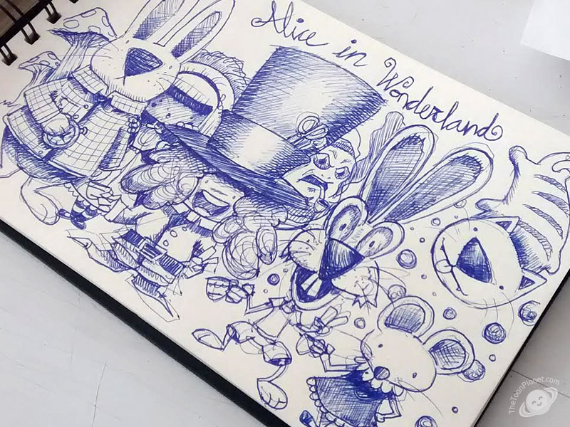 Alice in Wonderland sketch