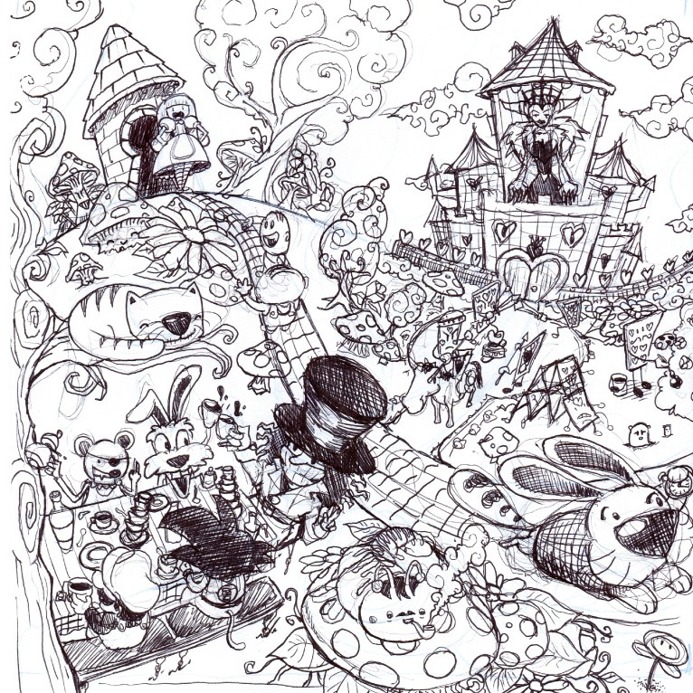 Alice Adventures in Wonderland Illustration