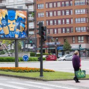 BOKS Illustration featured in Oviedo entrance mupi