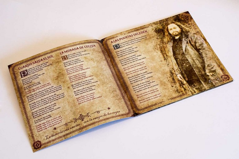 Photo detail of a inner page of Chronicles of Aravan leaflet artwork