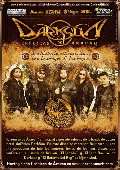 Poster design for Chronicles of Aravan, Darksun tour presenting their brand new album