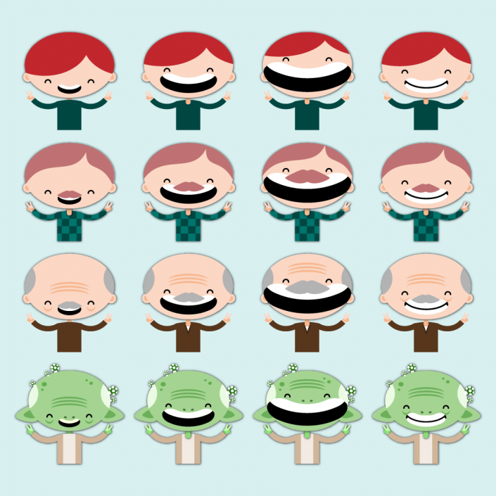 Main character design for Healthy Child video game