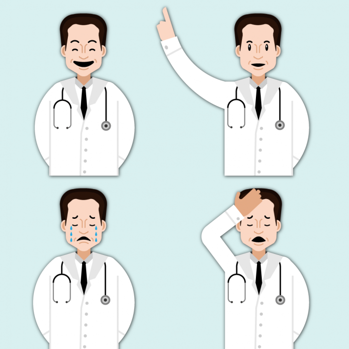 Doctor character design for Healthy Child video game
