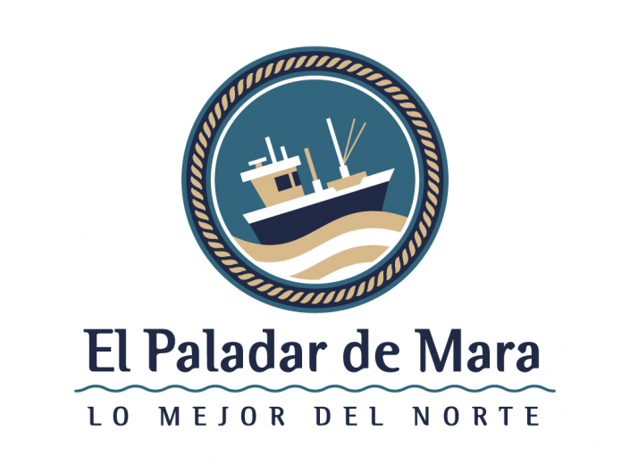 Logo design created for Paladar de Mara, a canned food local business shop in Gijón, Asturias, Spain.