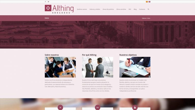 Althing abogados wordpress web design