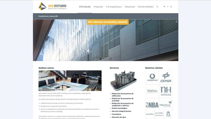 AYD Estudios architecture web design in wordpress