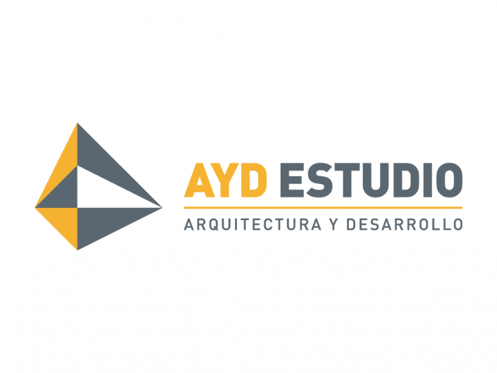 Logo design created for AYD Estudio, an architecture studio in Madrid, Spain.