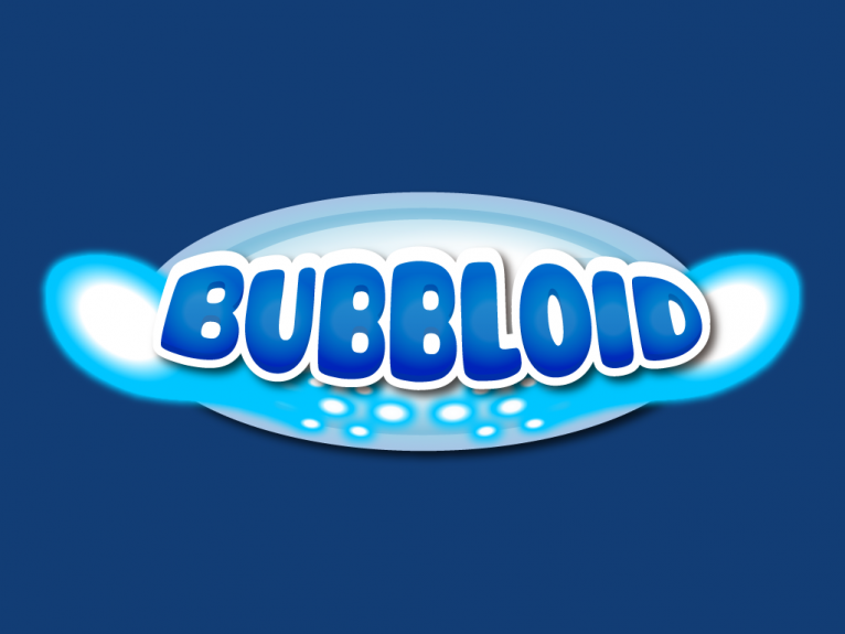 This logo is designed for Bubbloid, a indie arcade retro styled video game from Bigtree games Okinaki studio.