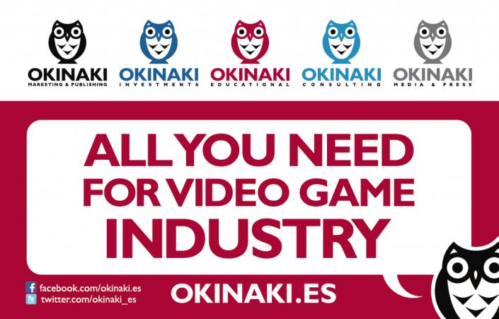 Okinaki publishing and marketing business cards artwork design