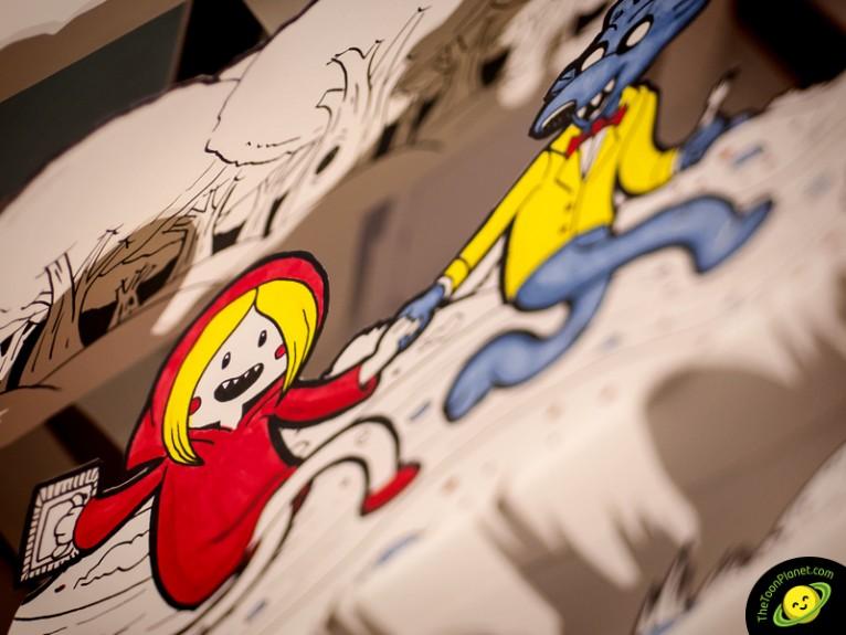 Ilustración popup 3d de Caperucita Roja estilo cartoon