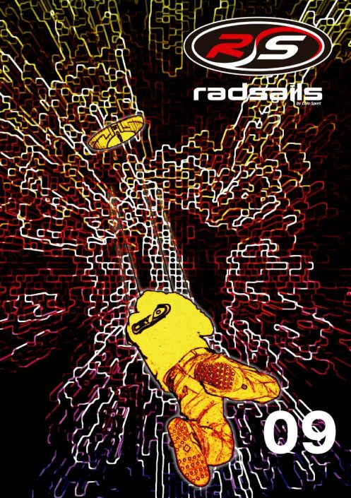 Radsails catalog cover graphic design artwork