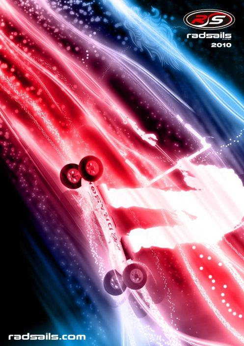 Radsails catalog cover graphic design artwork