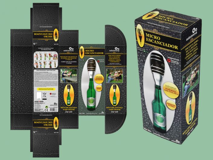 Cider pump packaging graphic design artwork