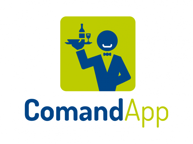 This logo is designed for Command App, a tablet app for helping waiters and waitresses in hostelry business