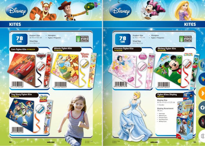 Disney Pixar catalog pages graphic design artwork