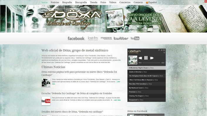 Doxa metal band web design