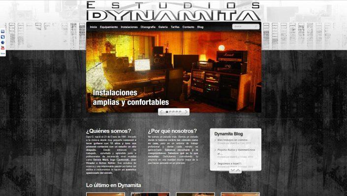 Dynamita studios recording web design