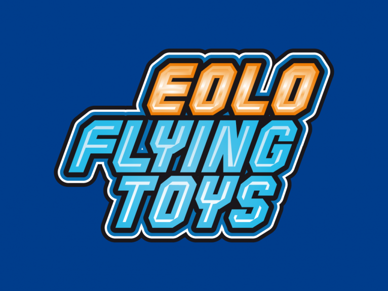 Logo design for Eolo Flying toys, a new brand for a range of flying toys of Eolo-Sport, a toy and kite company based in Gijón, Asturias, Spain.