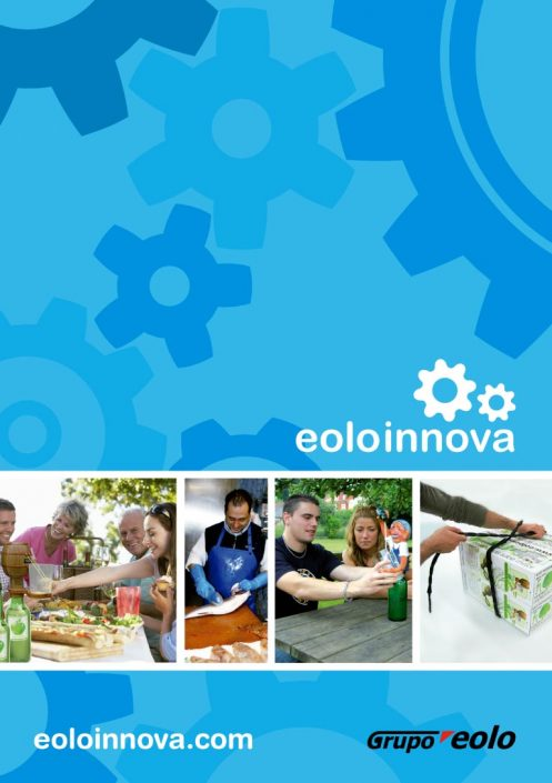 Eoloinnova catalog cover graphic design artwork