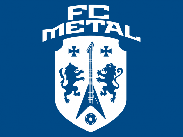 Logo design for FC Metal, a recording label specialized in rock and heavy metal bands based in Berlin, Germany.