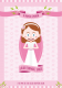 Funny communion card design illustration for special events and weddings