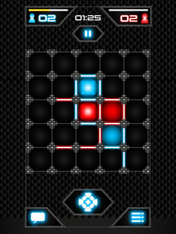 Dots and squares game play UI design (Graphic user interface)