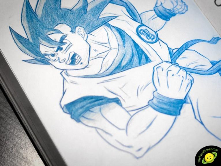 Dragon Ball Goku dibujo