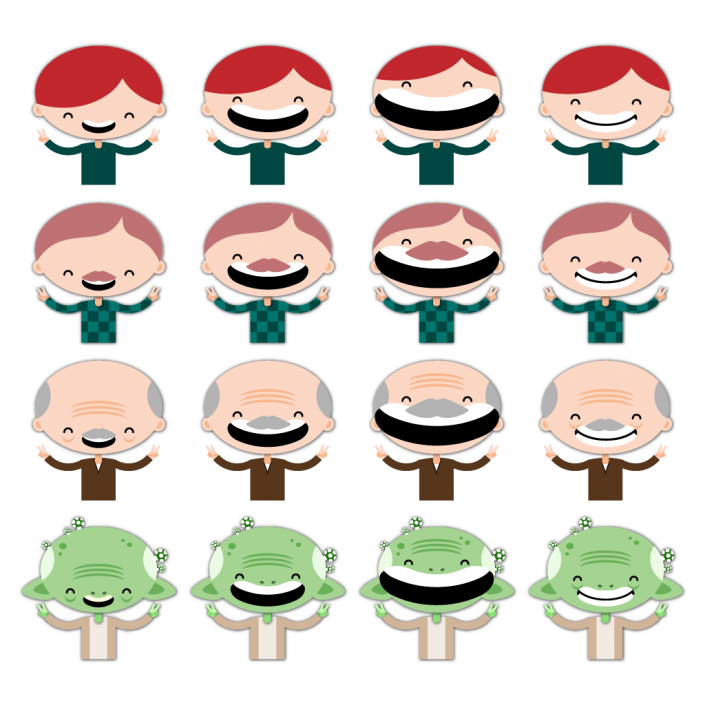 Vector character sprites set design