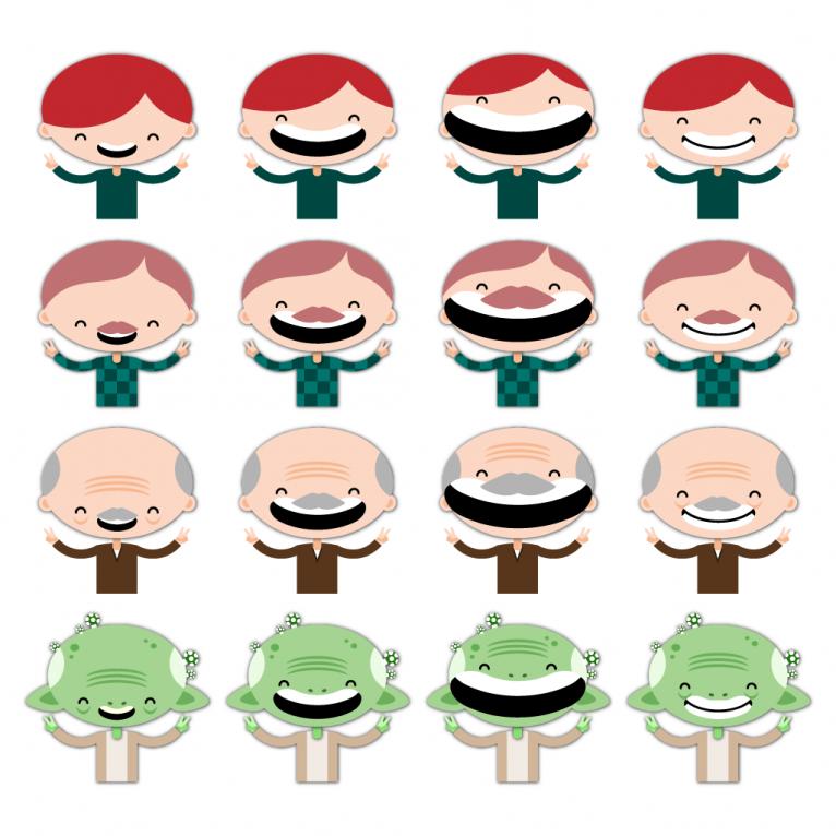 Vector character sprites set design