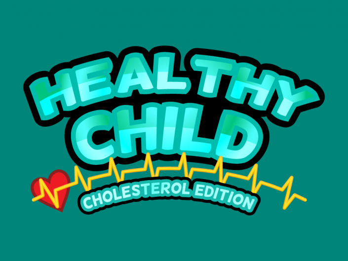 Logo design for Healthy Child, ehealth video game winner in Asturias game jam developed for ios and android devices