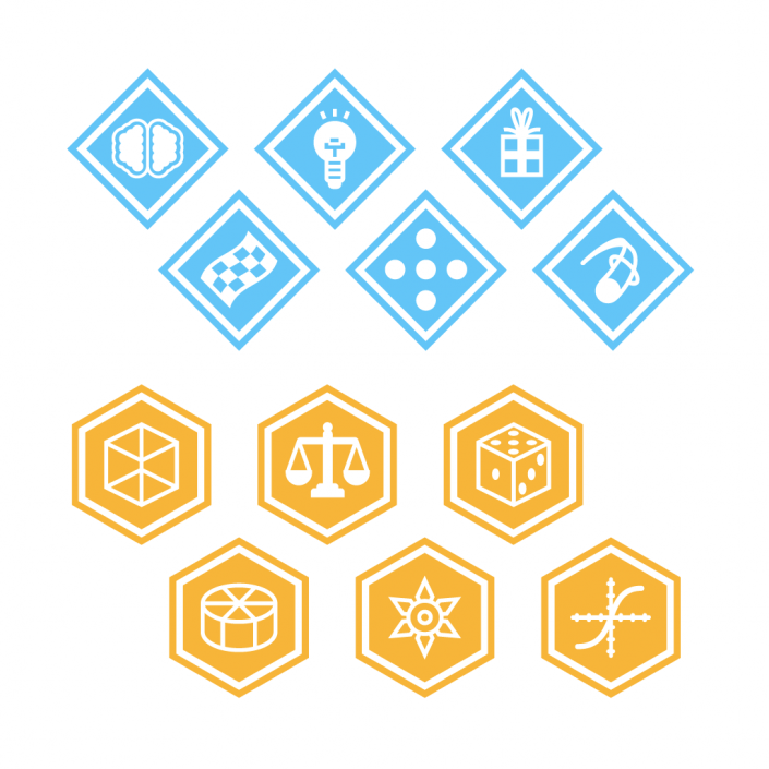 Vector badges flat icon set design