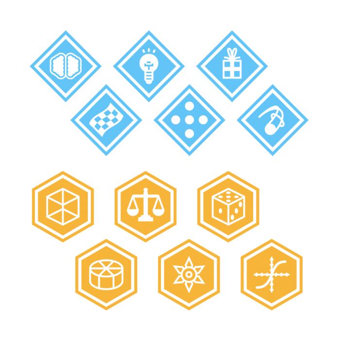 Vector badges flat icon set design