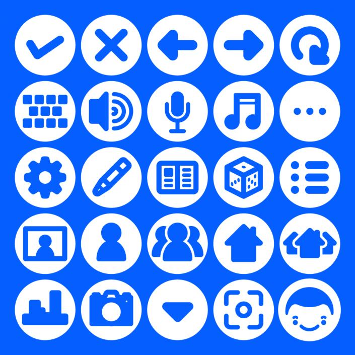 Vector app icon set design