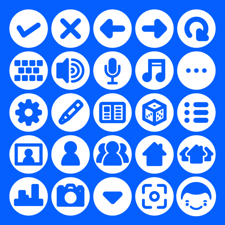 Vector app icon set design