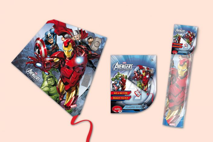 Marvel avengers diamond kite toy graphic design artwork