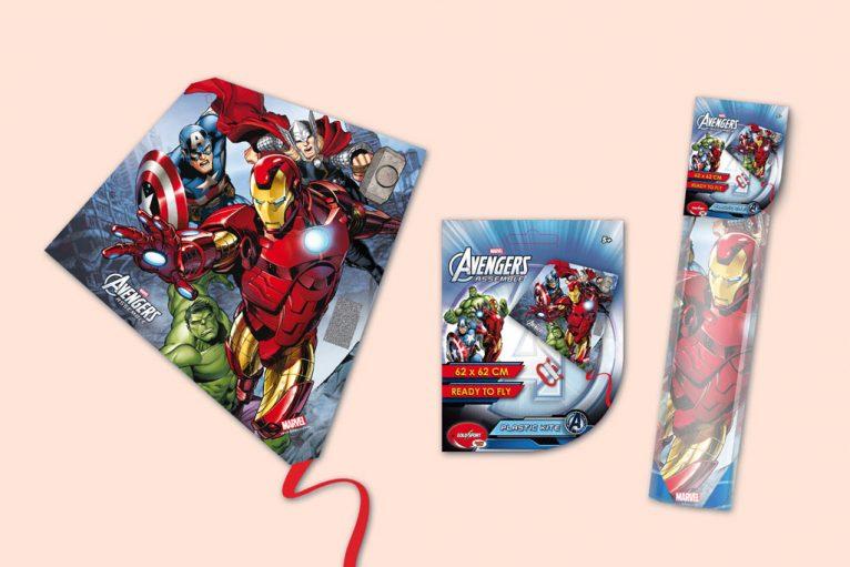 Marvel avengers diamond kite toy graphic design artwork