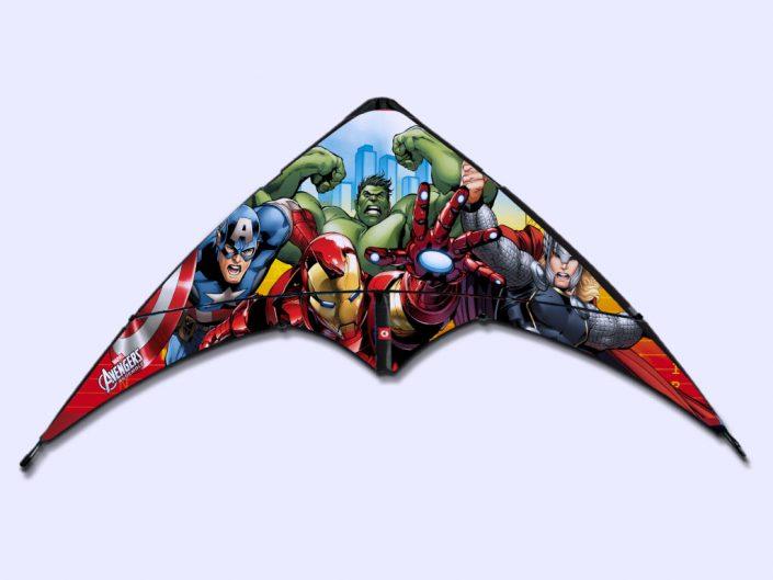 Marvel Avengers stunt kite graphic design artwork