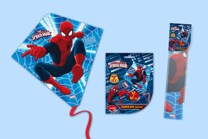 Marvel Spiderman diamond kite graphic design artwork