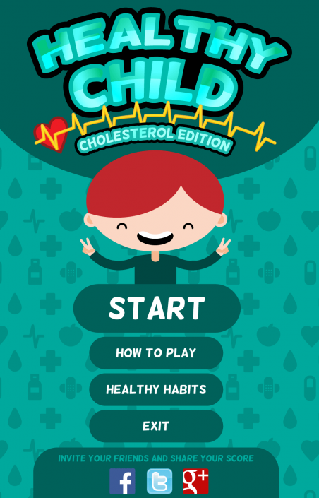 Healthy Child UI design (Graphic user interface)