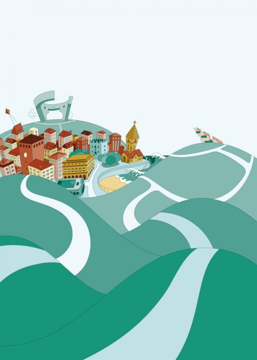 Background vector illustration for Metropoli poster