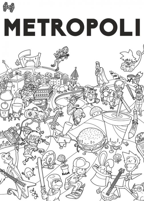 Final vector line art for Metropoli poster