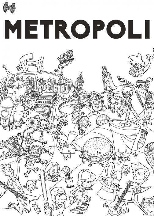 Final vector line art for Metropoli poster